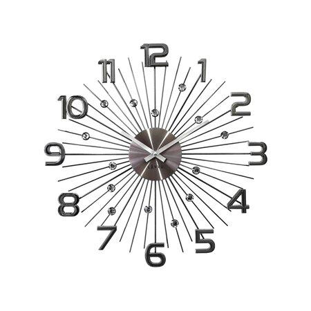 Nástenné hodiny Lavvu Crystal Sun LCT1151 antracitová, pr. 49 cm
