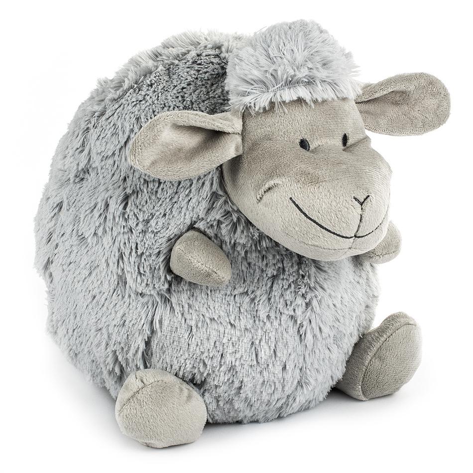 BO-MA Trading Polštářek Ovečka koule šedá, 16 cm