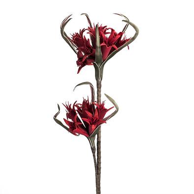 Umělá květina Střapatka červená