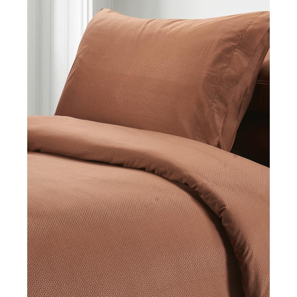 BO-MA Trading Povlečení Elisa, hnědá, 140 x 200 cm, 70 x 90 cm