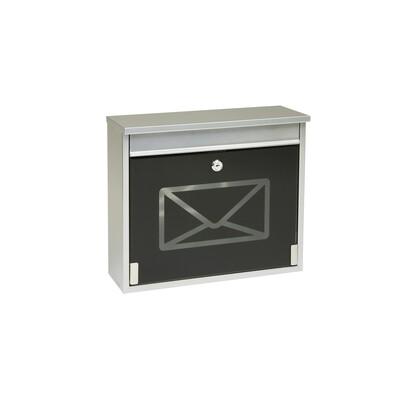 Poštovní schránka s tvrzeným sklem stříbrná
