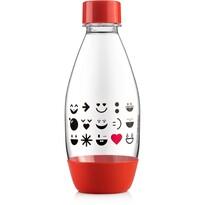SodaStream Detská fľaša Smajlík 0,5 l, červená