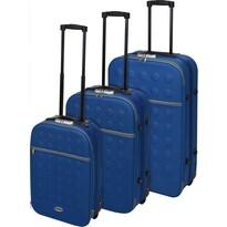 Sada textilných kufrov na kolieskach 3 ks, modrá