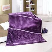Přehoz na křeslo Amaro fialová, 70 x 160 cm