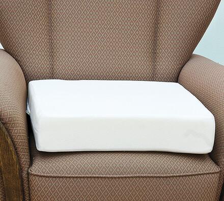 Zvýšený sedák na židli z paměťové pěny, 45 x 45 x , bílá