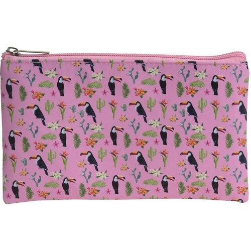 Koopman Kosmetická taštička Tropico růžová, 20 x 12 cm