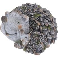 Decorațiune de grădină Familie de arici, 32 cm