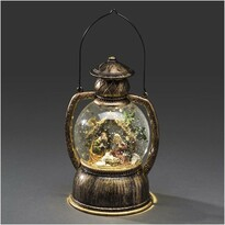 Dekorativní LED lucerna s betlémem