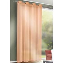 Till függöny karikákkal narancssárga, 140 x 245 cm
