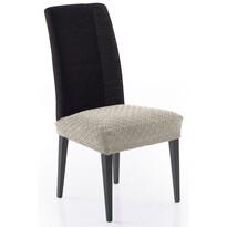 Multielastický poťah na sedák na stoličku Martin béžová, 50 x 60 cm, sada 2 ks