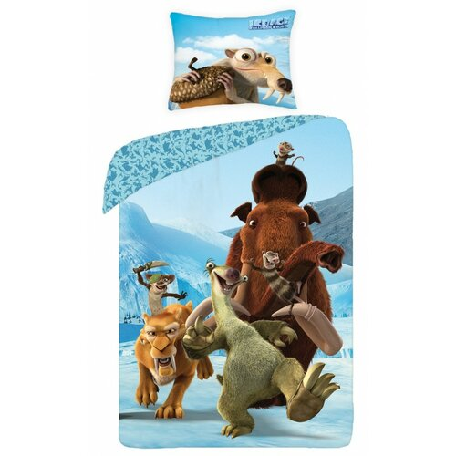 Halantex Dětské bavlněné povlečení Doba ledová, 140 x 200 cm, 70 x 90 cm