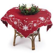 Vánoční ubrus Vánoční hvězda červená, 85 x 85 cm