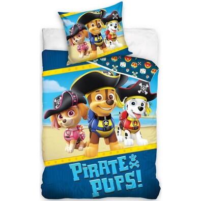 Dziecięca pościel bawełniana Psi patrol Piraci, 160 x 200 cm, 70 x 80 cm