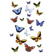 Kleine Wolke samolepka s Motýli