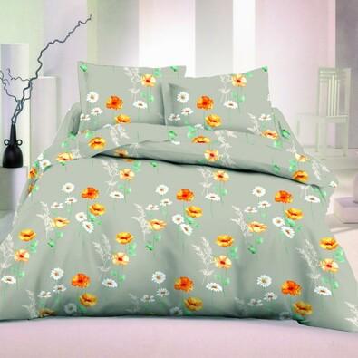 Saténové obliečky Flowers malé Luxury Collection, 140 x 200 cm, 70 x 90 cm