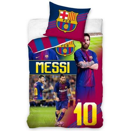 Lenjerie de pat, din bumbac, FC Barcelona Messi, 140 x 200 cm, 70 x 90 cm