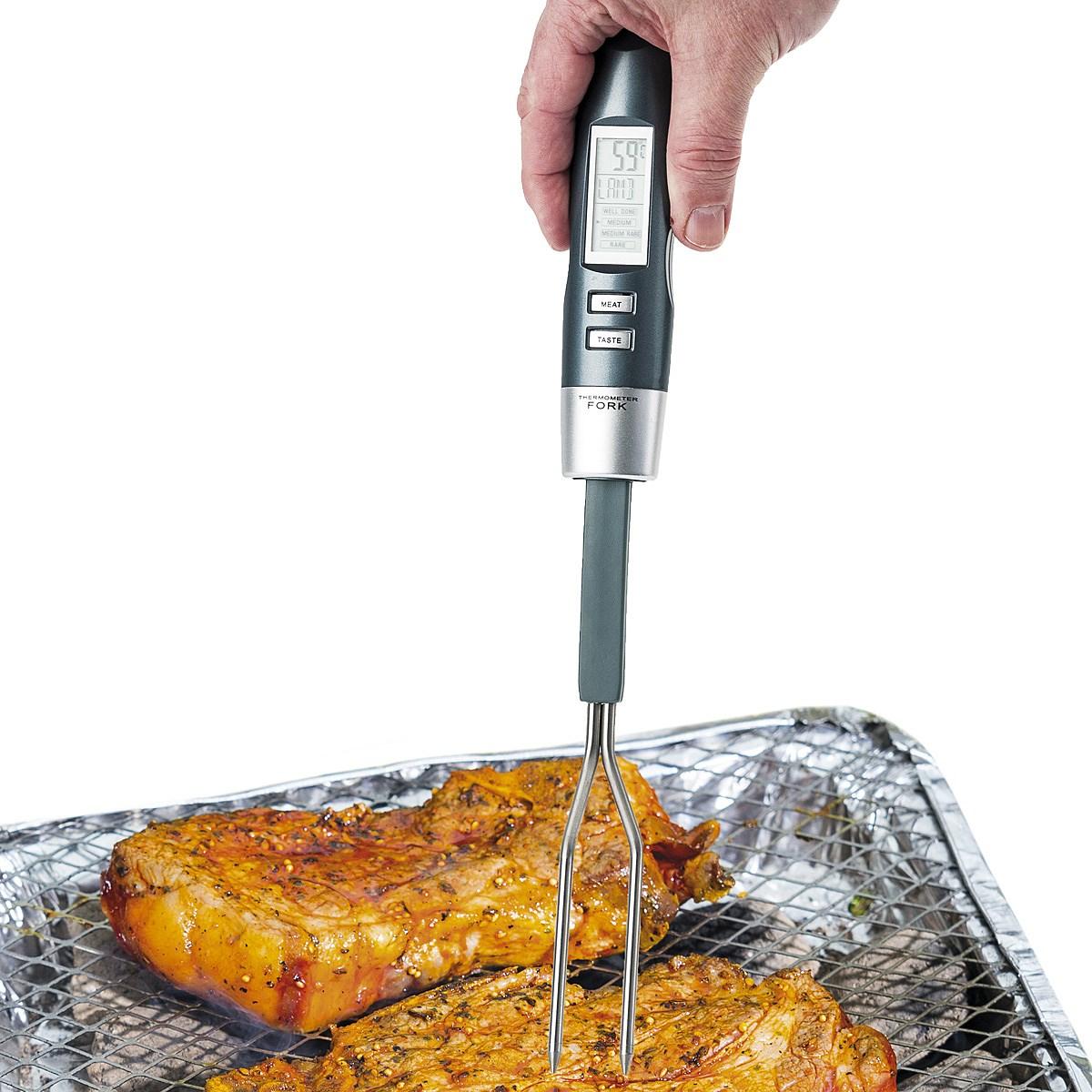 Digitální teploměr na pečení masa