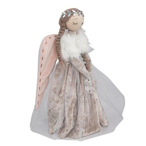 Altom Vianočná dekorácia Zamatový anjel, 30 cm