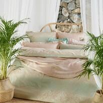 Stella Ateliers Poszewka na poduszkę z adamaszku Reena jade opal, 40 x 80 cm