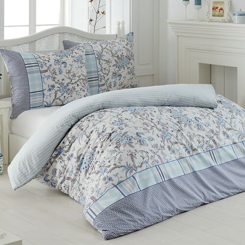 Liana pamut ágynemű, kék, 140 x 200 cm, 70 x 90 cm