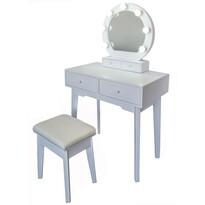 Kosmetický stolek se zrcadlem Vanessa, 75 x 40 x 130 cm