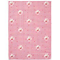 Ścierka kuchenna Country kratka czerwony, 50 x 70 cm, 2 szt.