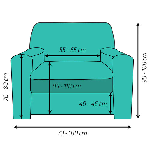 4Home Multielastický potah na křeslo Comfort hnědá, 70 - 110 cm