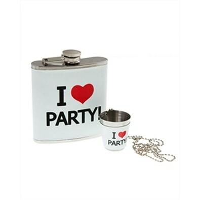 Dárková placatka I Love Party
