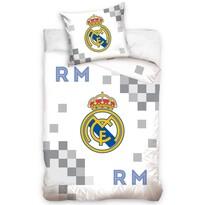 Pościel bawełniana Real Madrid Dados Grey, 140 x 200 cm, 70 x 90 cm