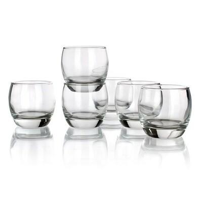 6dílna sada skleniček na whisky 250 ml