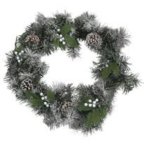 Coroniţă de Crăciun Capua, verde, diam. 45 cm