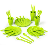 Set vase Koopman Piknik, din plastic, 31 buc.,,verde