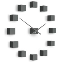 Future Time FT3000TT Cubic titanium Designové samolepiace hodiny, pr. 50 cm