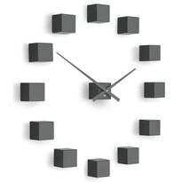 Future Time FT3000TT Cubic titanium Designové samolepicí hodiny, pr. 50 cm