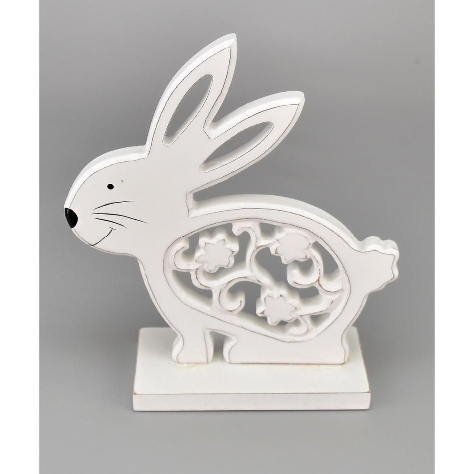 Velikonoční dřevěný zajíček Antonín, 16,5 cm