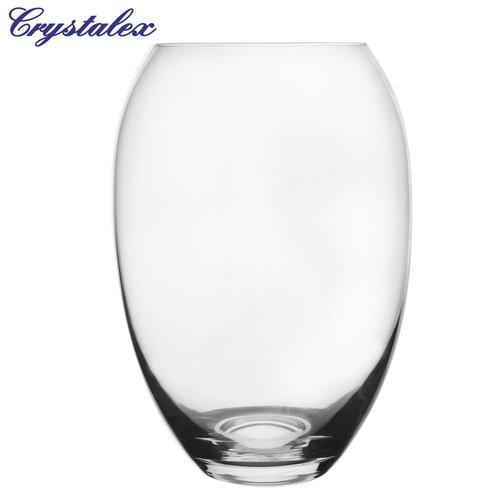 Crystalex Üveg váza, 15,5 x 22,5 cm