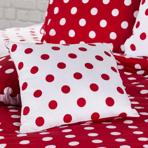 4Home Bavlněné povlečení Červený puntík, 200 x 220 cm, 2 ks 70 x 90 cm
