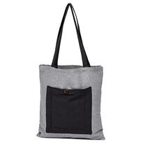 Nákupní taška Heda šedá, 40 x 45 cm