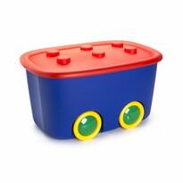 KIS Dekoračný úložný box Funny L modrá, 46 l