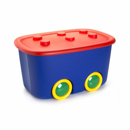 KIS Dekorační úložný box Funny L modrá, 46 l