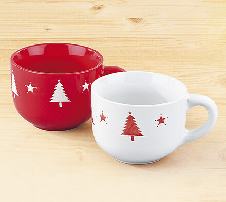 Sada vánočních hrnků, 2 kusy