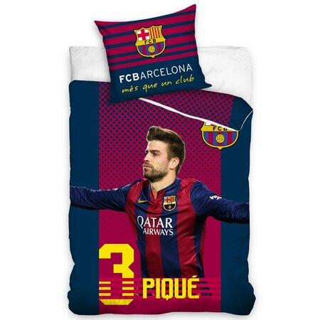 FC Barcelona Pique pamut ágyneműhuzat, 160 x 200 cm, 70 x 80 cm