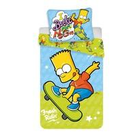 Jerry Fabrics Dětské bavlněné povlečení Bart Skate 03, 140 x 200 cm, 70 x 90 cm