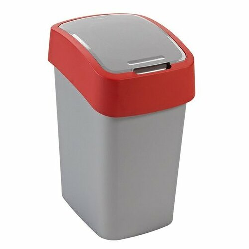 Odpadkový kôš CURVER Flipbin 25 l strieborná/červená