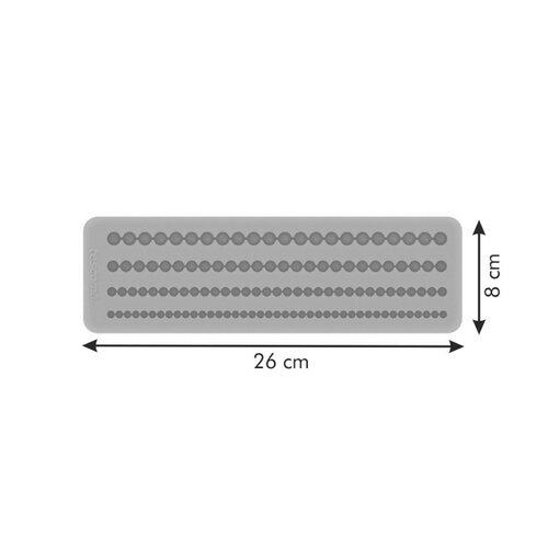 Tescoma DELÍCIA DECO foremki silikonowe bordiuraniebieska, sznur pereł