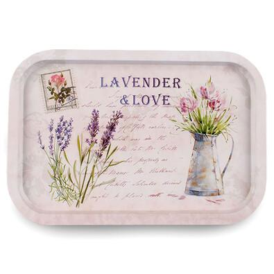 Lavender Plechový podnos