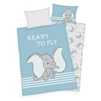 Dětské bavlněné povlečení do postýlky Dumbo Ready to fly, 100 x 135 cm, 40 x 60 cm