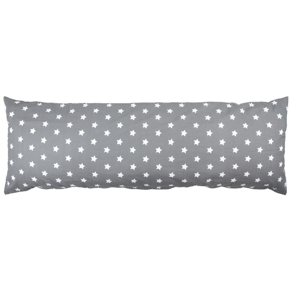 4Home povlak na Relaxační polštář Náhradní manžel Stars šedá, 55 x 180 cm