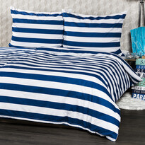 4Home lenjerie de pat Navy pentru 2 persoane