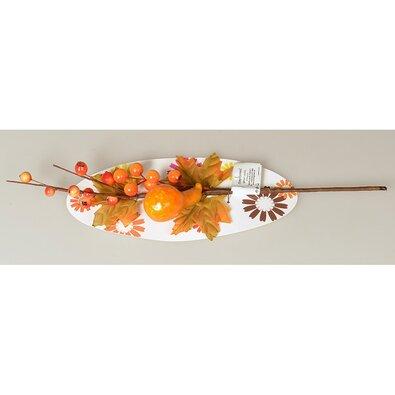 Podzimní větvička s bobulemi, dýní a listy, 40 cm